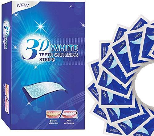 White Stripes, Zahnbleaching Strips, Professionelles Zahnaufhellung Streifen set für sichtbar weißere Zähne in wenigen Tagen
