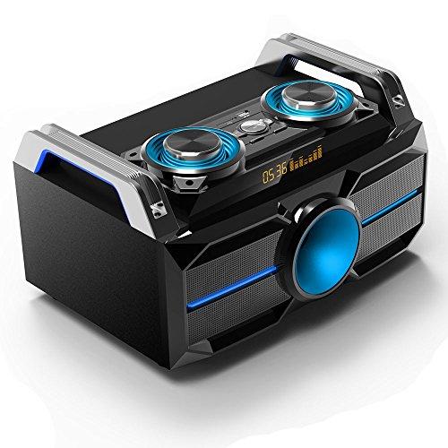 Stereo Anlage Lautsprecher tragbar LED´s Sound Box System BLUETOOTH USB SD MP3 Aufnahme SPLBOX100