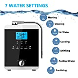 GRASSAIR Water Ionizer Purifier Machine-Filtration System PH3.5-11 Alkaline Acid 5 Water Settings Auto-Cleaning