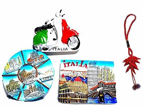 Generico Corno 20 cm Circa Peso 250 Grammi in Resina PRESEPE per RISTORANTI Pizzeria NAPOLETANA Napoli ricevi Portachiavi Omaggio LUC