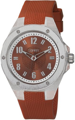 Esprit Ladies Watch Analogue Rubber Quartz Lucent Red