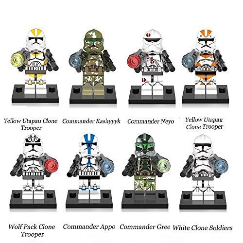 Soldier Trooper Mini Figuren Spielzeug Geschenk-Set 8Stück passt Lego (Star Wars Lego-sets Clone Wars)