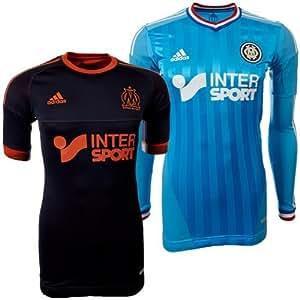 Maillot Match OM Olympique de Marseille Techfit Reversible Noir-Orange 2012-2013 T:M