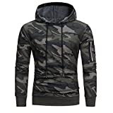 Goosuny Herren Langarm Tarnung Kapuzenpullover mit Kapuze Casual Sweatshirt Oberteile Herbst Jacke Mantel Outwear Winterpullover Herbstjacke Winterpulli Hooded Sweat Wintermantel(Tarnung,3XL)