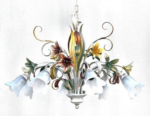 Florentiner Stil dekoriert Eisen-Serie - eigene Produktion - Made in Italy (Kronleuchter mit 8 Lichtern) -