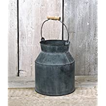 Homes on Trend Shabby Zinc Métal Lait Baratte Style Vintage Table De Mariage Fleur Vase Pot Jug