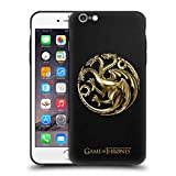 Head Case Designs Offizielle HBO Game of Thrones Gold Targaryen Sigils Skinny Fit Hybride Durchsichtig Hülle für Apple iPhone 6 Plus/iPhone 6s Plus