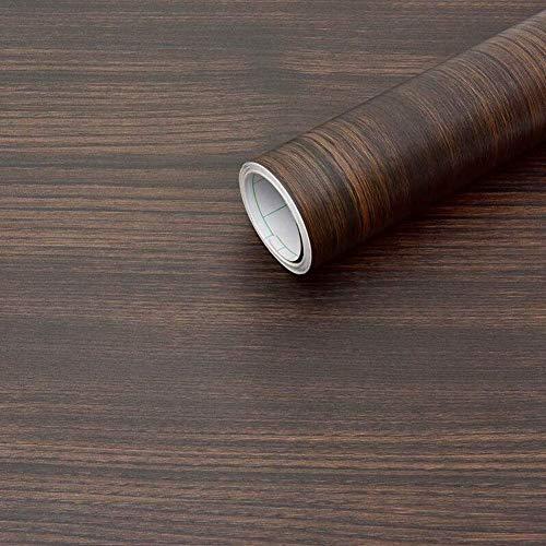 WH Dunkelbraune Holz Peel und Stick Tapete Holzmaserung Kontaktpapier Selbstklebende Folie Abnehmbare strukturierte Holzplatte Dekorative Wandverkleidung