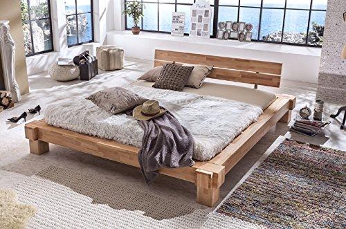Holzwerk letto in legno letto palermo letto matrimoniale letto in legno di faggio balken massiccio nuovo misure disponibili 140/160/180/200