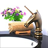 QYJ Wasserhahn Europäischen Antiken Kupfer Heißen Und Kalten Becken Wasserhahn Titanium Wasserhahn Kreative Persönlichkeit Wasserhahn,Brass