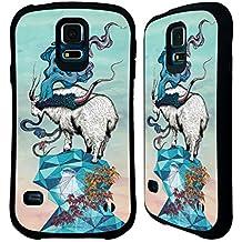 Officiel Mat Miller Recherche De Nouvelles Hauteurs Animaux Étui Coque Hybride pour Samsung Galaxy S5 / S5 Neo