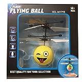 RC Fliegender Ball, Gusspower Infrarot Induktion Hand Mini Fliegen Emoji Drone Flugzeug Hubschrauber, Elektrische Micro Flugzeuge Geschenk für Kinder Spielzeug (C)