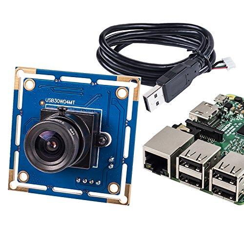SunFounder Raspberry Pi USB2.0 Camera Module Lens 1/4 inch 640x480 Resolution for Raspberry pi A/A+/B/B+/2/3 Banana Pi Android/Linux/Mac/Windows -