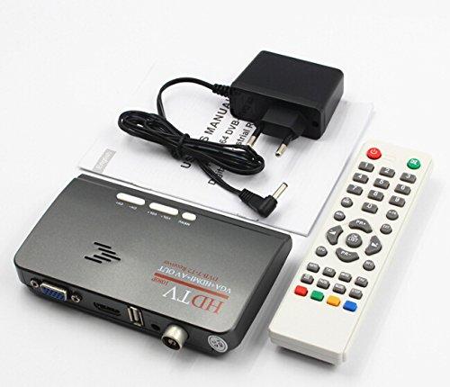 Vga Tv Tuner (jycra VGA DVB-T2TV Box AV zu VGA HDMI VGA USB Unterstützung MPEG4 European regulations)