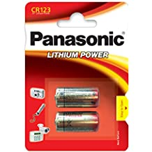 Panasonic CR 123 Litio 3V batería no-recargable - Pilas (Litio, 3 V, 1400 mAh, 17 mm, 17 mm, 34,5 mm)
