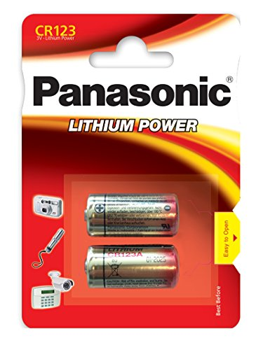 Panasonic CR-123 AL Photo Batterie (Lithium Power, Knopfzelle, 2er Pack) -