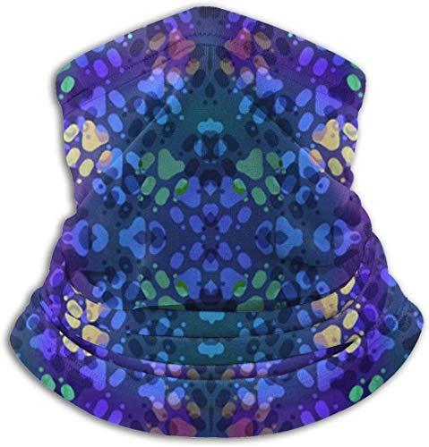 Jxrodekz Cosmic Dog Paw Prints Unisex-Schal Double Layer Neck Warmer Scarf Schals Schal Cowl -