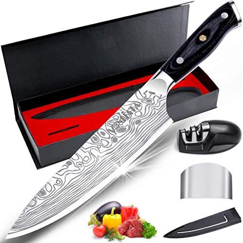mosfiata coltello da cuoco pro da cucina coltello,forgiata lama acciaio inossidabile tedescomanico ergonomico,la scelta migliore per la cucina e il ristorante di casa