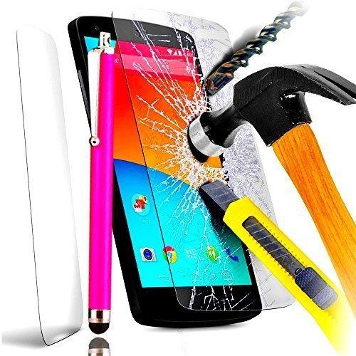 A&D® FILM PROTECTION Ecran en VERRE Trempé pour IPHONE 5 5C 5S filtre protecteur d'écran INVISIBLE & INRAYABLE vitre INCASSABLE pour Smartphone Apple 5G 5GS (+ STYLET ROSE)