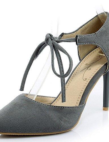 WSS 2016 Chaussures Femme-Habillé / Décontracté / Soirée & Evénement-Noir / Rouge / Gris / Léopard-Talon Aiguille-Talons / Bout Pointu-Chaussures red-us8.5 / eu39 / uk6.5 / cn40