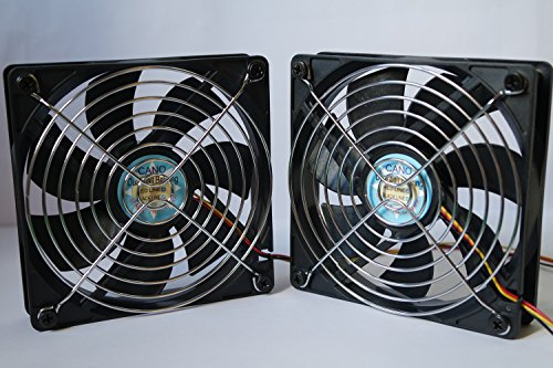 -2-pack-12cm-with-grill-dual-ball-bearing-fan-cooling-fan-for-pc-computer-cases-cpu-coolers-and-radi