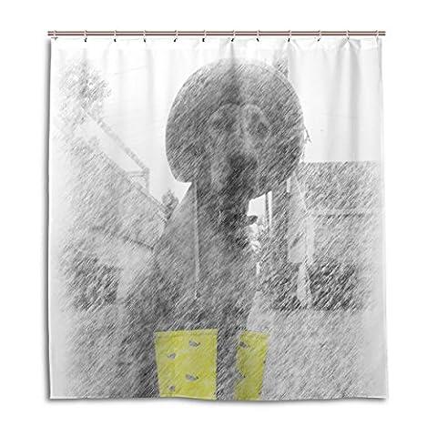 bennigiry Hund Pet Regen Stiefel Duschvorhang Bad Decor Set mit Haken für Badezimmer 167,6x 182,9cm Schimmelresistent antibakteriell geruchlos Wasserdicht