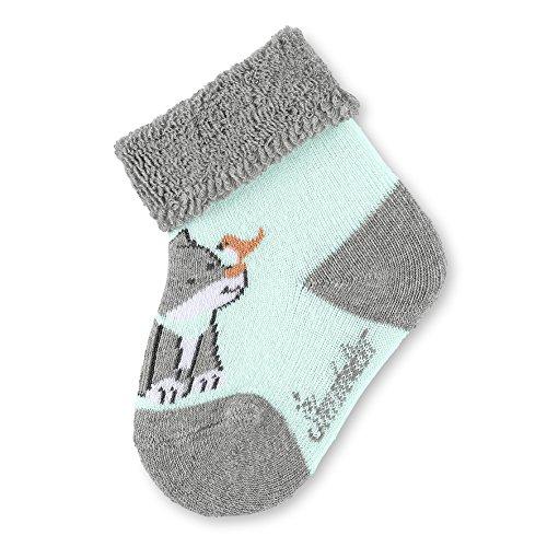 Sterntaler Baby-Socken Waldis Filou, Alter: 6-9 Monate, Größe: 18, Grau (Silber melange)
