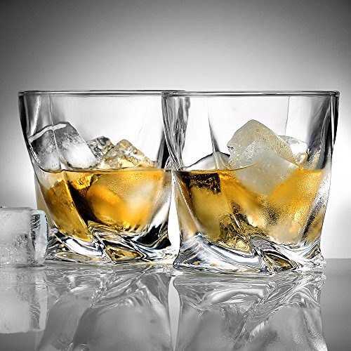 Whiskygläser: Ecooe 2 x Whiskeygläser Whisky Glas Set Whiskybecher 300ml