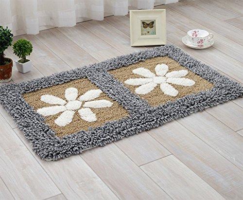 Chenille-Tür-Matten-Rechteckige Blumen-Wohnzimmer-Teppich-Schlafzimmer-Bett-Matten-Badezimmer-Badezimmer-Saugfähige Matte 45 * 70Cm,A