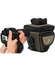 Cámara de fotos Set South Bull Bolsa con acción Mango piel para Panasonic Lumix FZ200gx80gf7GM5GM1