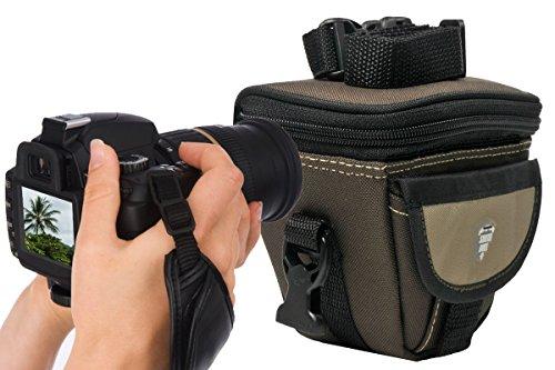 Foto Kamera Tasche Southbull Set mit Action Handgriff Leder für Panasonic Lumix FZ200 GX80 GF7 GM5 GM1