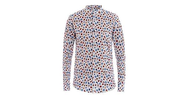 Camicia Uomo Collo Coreano Fantasia Disegni Pois Colori Casual Akirò GIOSAL