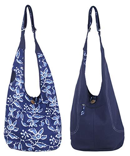Kleine Hobo Black Handtaschen (Sunsa Damen Tasche Umhängetasche Handtasche klein Baumwolle Hobo bag Teenager praktische Geschenke Bags for Women Schultertasche lässig Damentaschen sale kleine Boho Einkaufstasche Stoffbeutel)