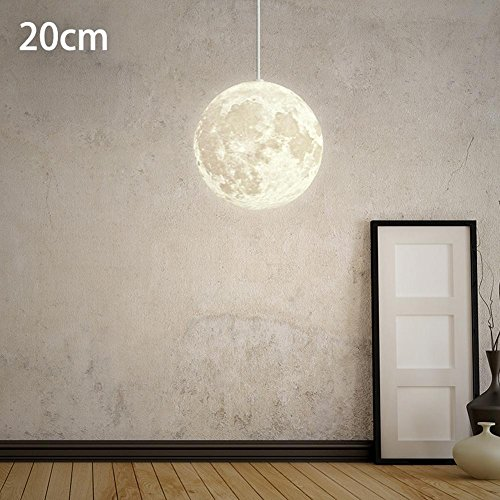 Restaurant-beleuchtung (Post-Modernen Pendelleuchten Hängelampe Nordic Einfache Mond Hängeleuchte Wohnzimmer Arbeitszimmer Schlafzimmer Persönlichkeit Kreative Loft Restaurant Beleuchtung Kugel Lampe E27 Ø20CM)