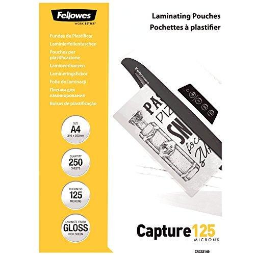 Fellowes CRC53149 A4 Laminierfolien (125 Mikron) im praktischen 250er Value Pack