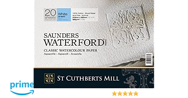 4 Sheets Saunders Waterford 640gsm 300lb NOT 1//4 imperial 28x38cm//11x15