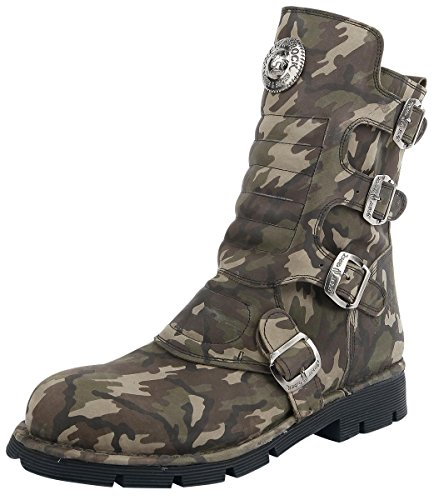 New Rock Camuflaje Verde Stiefel camouflage Camouflage