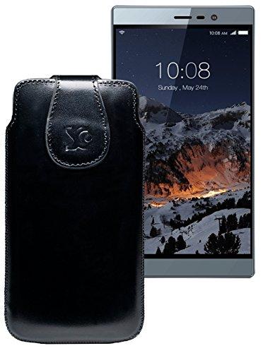 Original Suncase Tasche für Switel eSmart M3 | Leder Etui Handytasche Ledertasche Schutzhülle Case Hülle / in schwarz