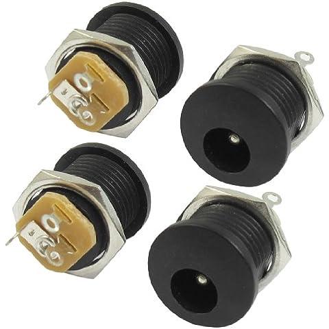 DC022 2.1x5.5mm Cuffie presa Jack di alimentazione DC PCB Supporto Connettore x 4