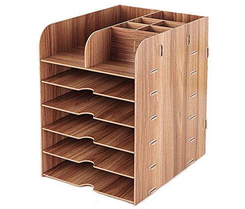YLucky Lagerung Organizer Box 6-tier Portable Desktop Sortierer stapelbare Ablage Bücherregale...