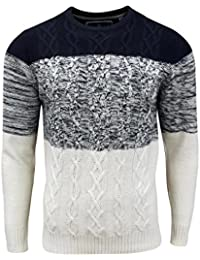Sweater Tricot Cotes Caspian Soul Star Homme Marine