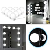 HowiseAcc Style LED Vanity Mirror Lights Kit, 10 Dimmable Light Bulbs and Power Plug, Lighting Fixture Strip for Makeup Vanity Table Set in Dressing Room (Mirror Not Included)