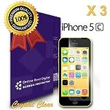 OBiDi - Films de protection d'écran pour Apple iPhone 5 / 5S / 5C, Crystal Clear / Transparent - OBD Emballage au Détail (Pack de 3)