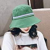ara el Sol Mujer Verano, Playa Costera, versión Coreana de la Moda Salvaje, Sombrero Grande,Protector Solar, Visera UV Verde M (56-58cm)