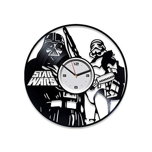 kovides Darth Vader Uhr Dark Side Star Wars Vinyl Wanduhr 30,5cm Darth Vader Geschenk Star Wars Vinyl Schallplatte Wanduhr Star Wars Wanduhr Vintage Geschenk für Mann Star Wars Geschenk Star Wars Uhr
