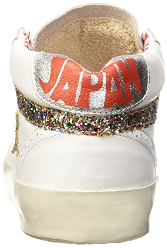 ISHIKAWA Japan 072, Chaussures Basses Mixte Adulte Blanc Cassé (Vitello Bianco/Brilloco Multicolore)