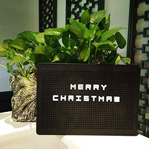 DIY Light Box mit Flexible Buchstaben Licht LED Anzahl Licht Box Zeichen Nachtlicht Dekoration (Black)