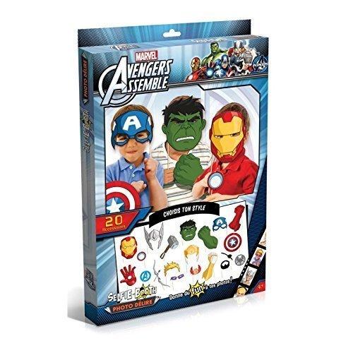 Man, Thor, Hulk und co. Partyfun und Partygag / Selfie / Photo Verkleidungs Kit / Masken am Stab mit Zubehör (Hawk-eye Avengers)