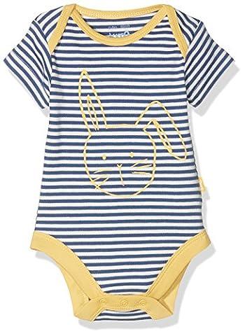 Kite Baby Bunny Stripy Bodysuit, Blue (Navy), 6-12 Months