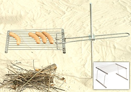 FALTBARER Pflock+Stand KOMBI-Grill MiniPack, Faltgrill Pflockgrill Standgrill Outdoorgrill Reisegrill